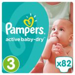 Pampers Подгузники Active Baby-Dry 5-9 кг (размер 3) 82 шт PA-81446634