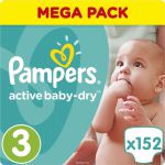 Pampers Подгузники Active Baby-Dry 5-9 кг (размер 3) 152 шт PA-81637347