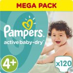 Pampers Подгузники Active Baby-Dry 9-16 кг (размер 4+) 120 шт PA-81637357