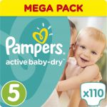 Pampers Подгузники Active Baby-Dry 11-23 кг (размер 5) 110 шт PA-81637362