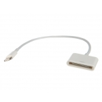 Аксессуар Oxion Lightning to 30-pin Adapter 15cm OX-ADP003WH White